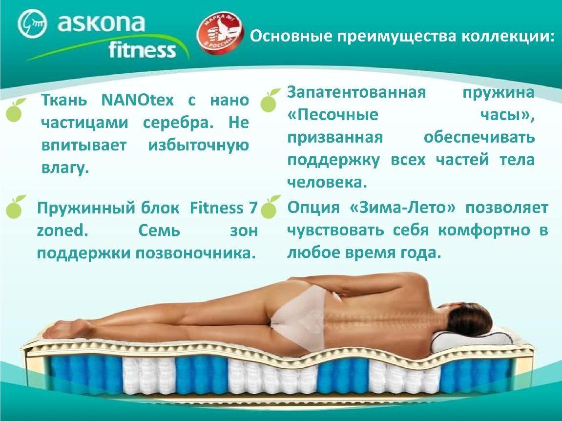 Матрас аскона фитнес